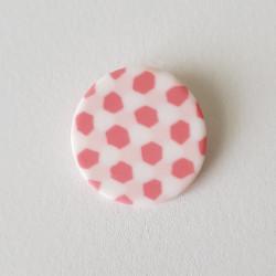Brooch Tortoise shell, pink