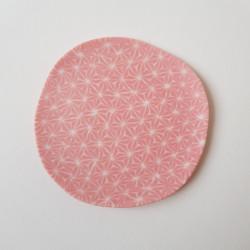 Plate Asanoha, pink background