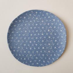 Plate Asanoha, cobalt blue...
