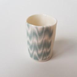 Espresso cup Waves, dark green