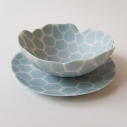 Plate and bowl set Tortoise...