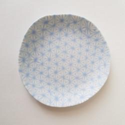 Plate Asanoha, blue