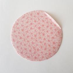 Plate Asanoha, red, folded