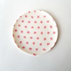 Plate Plum blossoms, white...